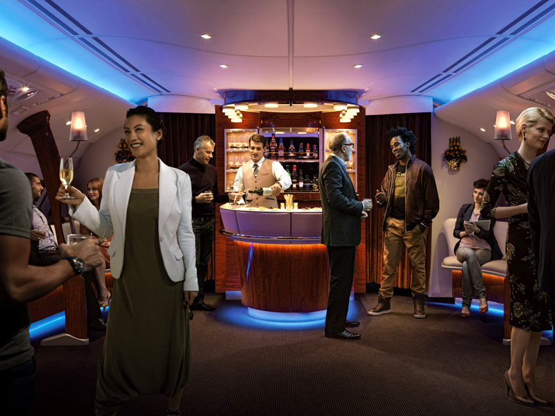 Emirates Business Class angebote On Board Bar